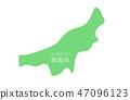 Niigata prefecture map illustration 47096123