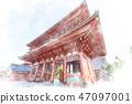 Asakusa Watercolor style 47097001