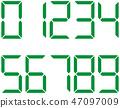 벡터, 숫자, 아라비아 숫자 47097009