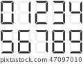 벡터, 숫자, 아라비아 숫자 47097010