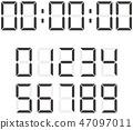 벡터, 숫자, 아라비아 숫자 47097011