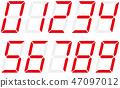 벡터, 숫자, 아라비아 숫자 47097012