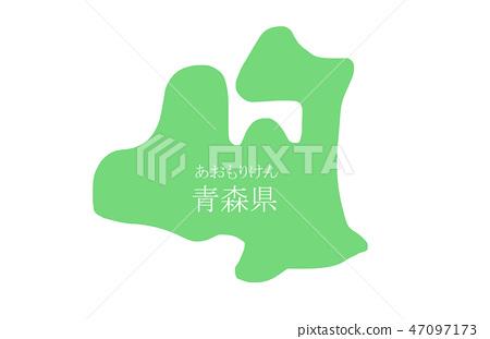 ภาพประกอบแผนที่จังหวัดอาโอโมริ 47097173