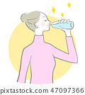水飲用的婦女邊際水合作用傳染媒介冬天水合作用 47097366