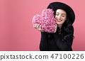 woman, heart, cushion 47100226