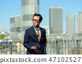 商人藍天大廈企業人圖像 47102527