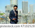 商人藍天大廈企業人圖像 47102528