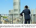 商人藍天大廈企業人圖像 47102537