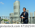 商人藍天大廈企業人圖像 47102544