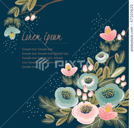 Vector illustration of a floral bouquet 47103620
