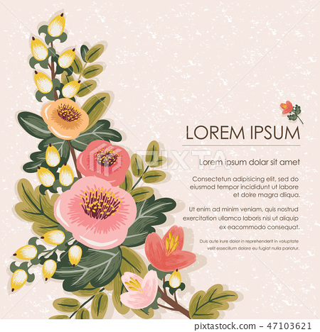 Vector illustration of a floral bouquet 47103621