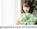 ช่อดอกไม้ผู้หญิง 47105929