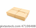 Brown paper box, tied with string. 47106488