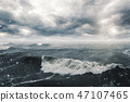 Stormy sea and clouds 47107465