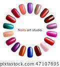 Fashion color manicure 47107695