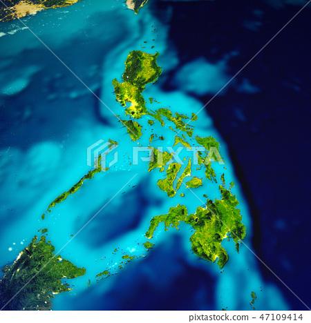 Philippines islands map - Stock Illustration [47109414] - PIXTA