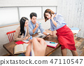 Businesswoman, office worker, meeting, businesswoman, young, business woman, announcement, reporting, casual 47110547
