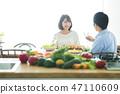 부부 식사 신혼 부부 가족 라이프 스타일 생활 47110609