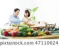 夫婦膳食新婚夫婦家庭生活方式 47110624