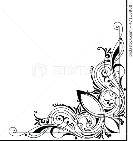 vector corner design stock illustration 47110968 pixta stock illustration 47110968 pixta