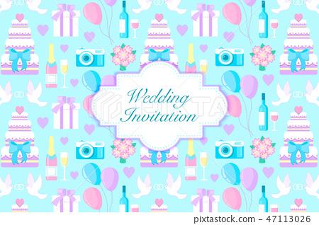 wedding invitation card 47113026