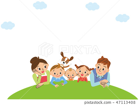 Good family with the grass 47113408