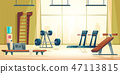 City sport club gym interior cartoon vector 47113815