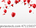 red background balloon 47115637