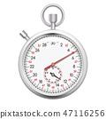 Realistic chronometer isolated on white background 47116256