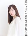 年輕女士的髮型 47117486