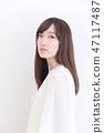 年輕女士的髮型 47117487