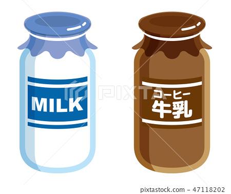Milk bottle coffee milk 47118202