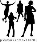 Relaxing Lady Silhouettes 47118703