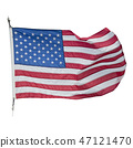 American flag waving  on white background 47121470