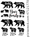 Daddy bear, mommy bear, baby bear, vector set 47121770