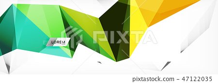 Science background. Abstract triangle pattern. Vector abstract geometric template 47122035
