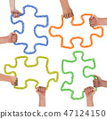 Hands with Puzzle 47124150