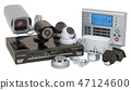 Home Surveillance Electronics. 3D rendering 47124600