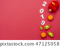 Table top view Lunar New Year & Chinese New Year 47125058