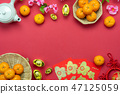 Table top view Lunar New Year & Chinese New Year 47125059
