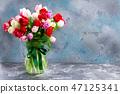 Fresh tulips flowers 47125341