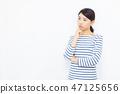 女性在她30岁的白背 47125656