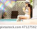 女性度假旅行 47127562