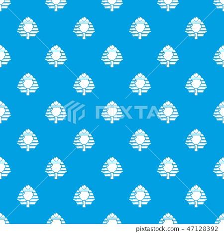 Pharaoh pattern vector seamless blue 47128392