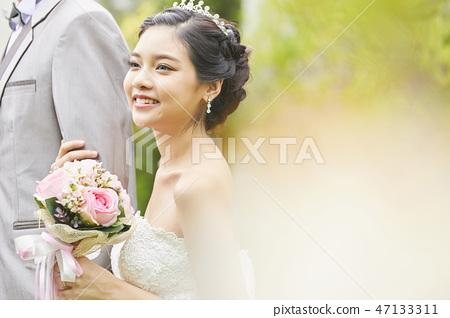 커플 결혼 신부 47133311