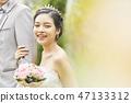 커플 결혼 신부 47133312