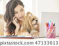 女人寵物生活方式業務 47133613