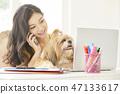 女人寵物生活方式業務 47133617
