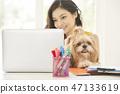 女人寵物生活方式業務 47133619