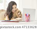 女人寵物生活方式業務 47133628